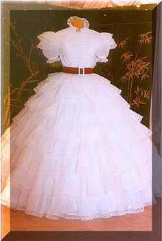 Scarlett's white dress from Gone With the wind - part of me says that this would be my dream wedding dress, if I had the money and didn't mind a theme wedding