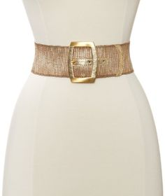 Streets Ahead Women's Metalic Gold Stretch Belt, As Sample, Large *** Learn more by visiting the image link.