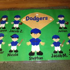 Create a backdrop for your door decor, then have each of your students make thier own paper doll.