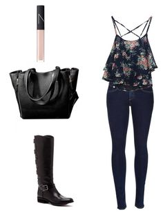 Caroline Forbes inspired outfit #2 by sashlib on Polyvore featuring rag & bone, Sole Society and NARS Cosmetics