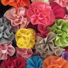 Flower Hair Bow, Girls Hair Bow, Grosgrain Hair Bow, Girls Hair Acessory, Flower Hair Clip, One Carnation Hair Bow - Your Choice of Color