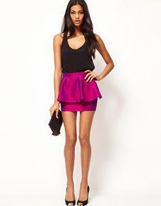 peplum miniskirt