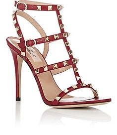 Designer Clothes, Shoes & Bags for Women Embellished Sandals, Studded Sandals, Strap Sandals, Shoes Sandals, Strap Heels, Valentino Sandals, Leather High Heels, Leather Sandals, Fashion Slippers
