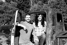 Old truck couple photo