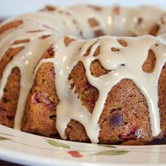This bundt has all of the delicious flavors of the holidays - pumpkin, apple, cranberry, maple, ginger, cinnamon, nutmeg, cloves