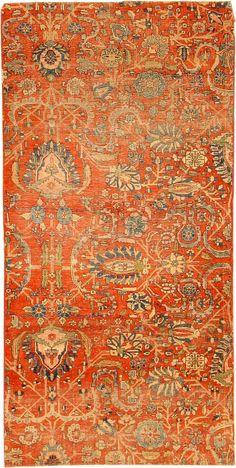 Antique Kashan Persian Rug