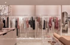 George Livissianiscreates a physical experience for Bec+Bridge's first retail store. Photo by Tom Ferguson.   #interior #fashion #retail #store #interiordesign #pink