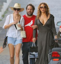 Semi-Exclusive... Mariah Carey & Brett Ratner Spend The Day Shopping In St. Barts