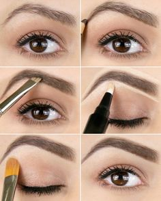 Brow Shaping Tutorials - How To Achieve Wow Eyebrows - Awesome Makeup Tips for How To Get Beautiful Arches, Amazing Eye Looks and Perfect Eyebrows - Make Up Products and Beauty Tricks for All Different Hair Colors along with Guides for Different Eyeshadow Beauty Kit, Beauty Secrets, Beauty Hacks, Makeup Brushes, Eye Makeup, Makeup Eyebrows, Brow Shaping, Perfect Eyebrows, Pencil Eyeliner
