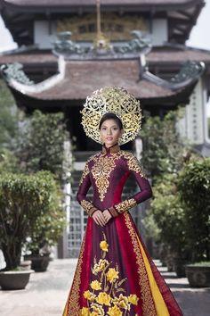 4 bo ao dai truyen thong Viet an tuong o dau truong quoc te hinh anh 5