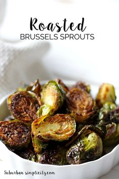 The BEST way to eat Brussels Spouts is to roast them!  This Roasted Brussels Sprouts Recipe is so simple, yet so delicious.  Even kids like them! | Great side dish idea.