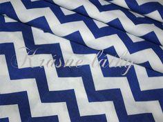 Cikcak, 100% bavlna, pěkná kvalita, chevron modrý