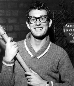 Buddy Holly (7 Sep 1936 - 3 Feb 1959) was an American musician & singer/songwriter who was a central figure of 50's rock & roll. His work with the band, the Crickets, defined the tradition of rock-n-roll lineup of 2 guitars, bass, & drums, and he was considered a 50's icon on par with Elvis, & Ed Sullivan. His untimely death in a plane crash, alongside fellow musician Ritchie Valens, is referred to as The Day the Music Died.