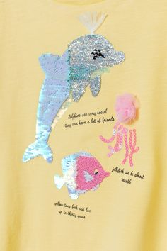 Graphic-design Top - Light yellow/dolphin - Kids | H&M US