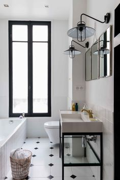 Black and white bathroom tiles are the best choice for elegant and classic interior decor that suits any taste . Mold In Bathroom, White Bathroom Tiles, Laundry In Bathroom, Small Bathroom, Bathroom Ideas, Bathroom Pics, Lowes Bathroom, Condo Bathroom, Master Bathroom