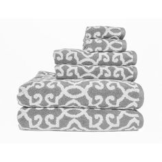 Nice Better Homes And Gardens Jacquard 6 Piece Towel Set, Silver