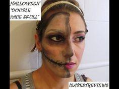 """SERIE HALLOWEEN 2014: """"HALF FACE SKULL"""" TUTORIAL"""