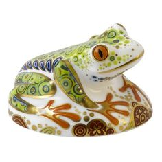 Gracious Style specializes in high end furnishings for your home, including fine linens, luxury dinnerware, and special gifts. Frog Crafts, Royal Crown Derby, Cute Frogs, Frog And Toad, Royal Copenhagen, Fine Linens, Glass Paperweights, Craft Party, Paper Weights