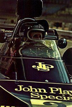 frenchcurious:  Jacky Ickx Lotus 1974 alpha auto c.1976