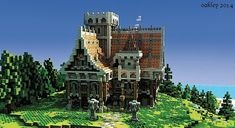 Minecraft Project - Medieval Mansion [Venom's Contest] – Place! Minecraft Houses Survival, Minecraft House Tutorials, Minecraft Houses Blueprints, Minecraft House Designs, Minecraft Creations, Minecraft Castle, Minecraft Medieval, Minecraft Plans, Minecraft Stuff