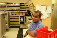 Project SEARCH: An Internship Program for People with Developmental Disabilities  Interns are given the opportunity to take part in three individualized internships in various departments throughout their time at NIH.