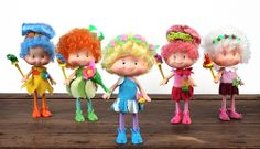 Herself the Elf - from left to right: Willow Song, Meadow Morn, Herself the Elf, Woodpink, Snowdrop