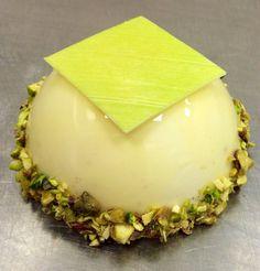 Lemon & pistachio dome