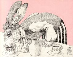 HiguchiYuko Bizarre Kunst, Bizarre Art, Art And Illustration, Illustrations, Sketchbook Inspiration, Painting Inspiration, Art Inspo, Alice In Wonderland Drawings, Kunst Inspo