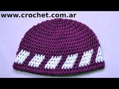 Gorro para niño 6/7 años en tejido crochet paso a paso. - YouTube
