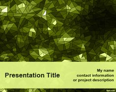 free #powerpoint #background with green abstract Kaleidoscope design