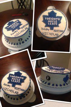 I'm so making this for my boyfriend only I'll put his name hahaha :P Boy Birthday, Birthday Parties, Birthday Cakes, Birthday Ideas, Party Time, Party Fun, Party Ideas, Hockey Cakes, Sports Themed Cakes