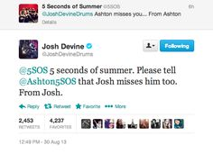 Drummers getting sentimental on Twitter. I LOVE THE DRUMMERS ♥