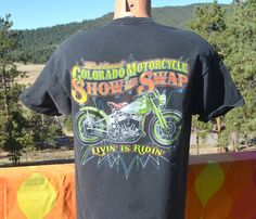 90s vintage t-shirt colorado HARLEY DAVIDSON motorcycle show