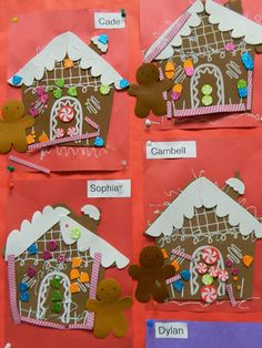 preschool gingerbread houses Finished early
