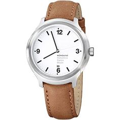 Men's Wrist Watches - Mondaine Unisex  MH1B1210LG Helvetica No1 Bold Analog Quartz Brown Watch -- Find out more about the great product at the image link. (This is an Amazon affiliate link)