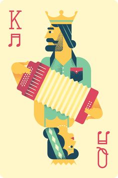 Illustration by Oscar Morris for 23rd Texas Accordion Kings & Queens