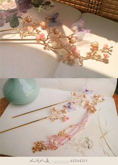 Korean Accessories, Kawaii Accessories, Kawaii Jewelry, Diy Hair Accessories, Cute Jewelry, Hair Jewelry, Fashion Accessories, Fashion Jewelry, Chinese Traditional Costume