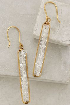 Herkimer Matchstick Earrings by Roost #anthropologie #anthrofave #jewelry_design