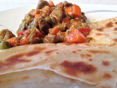 African beef curry stew with peppers (Mchuzi wa nyama)