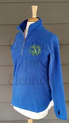 Womens Monogrammed 1/4 Zip Fleece Coat