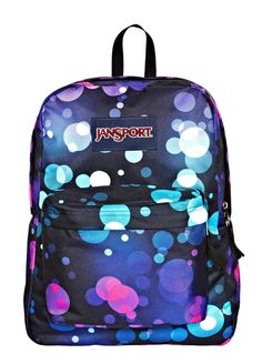 Back to School from JCPenney.  A colorful bag is always the bright choice -- spotty backpack
