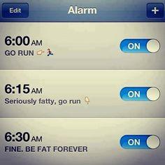 Motivational alarm clock