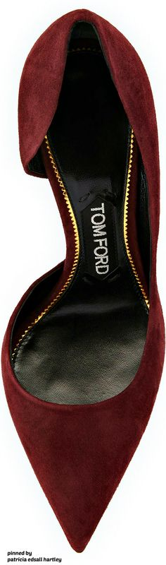 Suede 85mm Half-d'Orsay Pump TOM FORD