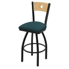 Ebern Designs Chamisa Swivel Bar & Counter Stool & Reviews | Wayfair Swivel Counter Stools, 24 Bar Stools, Bar Counter, Extra Tall Bar Stools, Holland Bar Stool, Wood Species, Foot Rest, Types Of Wood, Seat Cushions