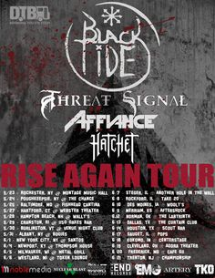 """So stoked to announce that we're sponsoring Black Tide's upcoming headliner, """"The Rise Again Tour"""" with Threat Signal, AFFIANCE and Hatchet! Check out the tour dates and details at http://www.digitaltourbus.com/news/black-tide-announces-rise-tour-dtb-sponsored"""