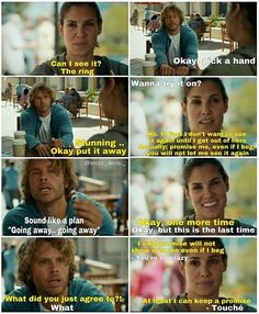 "8x08 ""Parallel Resistors""  we're slowly getting our Densi banter back."