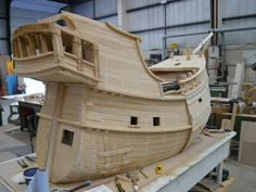 The Pirates! pirate ship sails into M Shed – Bristol Culture Model Ship Building, Boat Building, Pirate Boats, Wooden Ship, Boat Design, Model Ships, Play Houses, Sailing Ships, Pirates