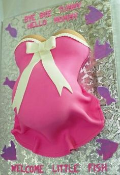 Pretty Pink Belly Cake