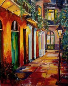 Pirate's Alley by Night  By Diane Milsap