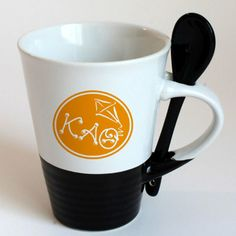 Kappa Alpha Theta Sorority Coffee Mug with Spoon $9.95 #Greek #Sorority #Accessories #KappaAlphaTheta #Theta